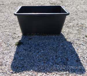 Gripline Speciekuip Rechthoekig zwart 45 liter