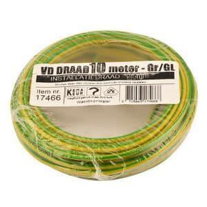 VD-DRAAD 2,5 MM� GEEL/GROEN - 10 METER GROEN/GEEL