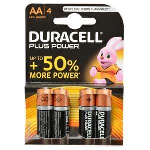 DURACELL PLUSPOWER 4 X AA 1.5V   ZWART DURACELL