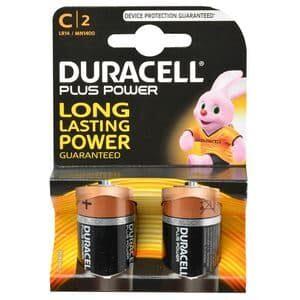 DURACELL PLUSPOWER 2 X C 1.5V    ZWART DURACELL
