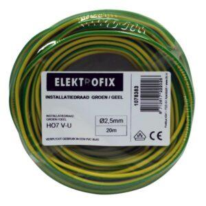 Installatiedraad 2,5mm Groen/Geel 20M EF