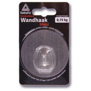Wandhaak mini herpl.baar 68mm x 68mm .75kg zilver 1 st.