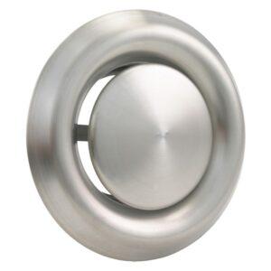 Afzuigventiel rond, RVS Ø125 mm